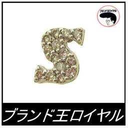 K18WGダイヤ イニシャルピアス(1個) S