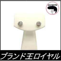 Pt 900 diamond earrings earrings 0.5 × 2 1 grain platinum 900 1 grain diamond