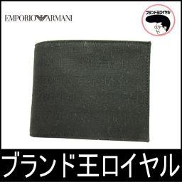 アルマーニ 二つ折り財布 ブラック