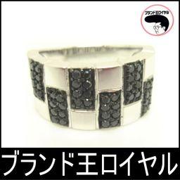 K18WG ダイヤ/ブラックダイヤリング 0.5ct