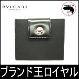 ブルガリ Wホック財布 黒