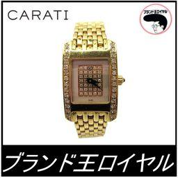 カラチ K18YG ダイヤモンド 腕時計