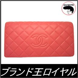 Chanel long wallet Pink diamond CC