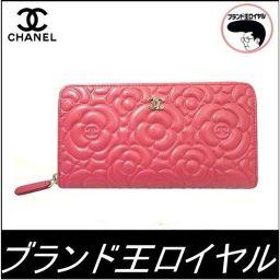 Chanel Camelia Zip Wallet Pink