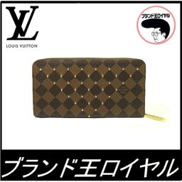 Louis Vuitton Damier New Long Purse Zippy Wallet Damier Studs