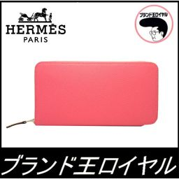 Hermes length wallet round fastener azaplong silk in rose azale