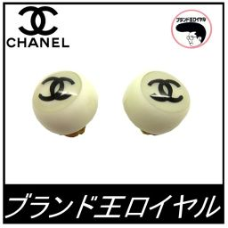 Chanel Coco Button Earrings
