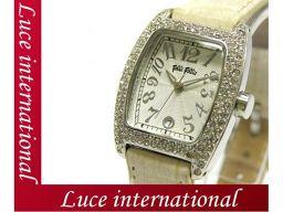 フォリフォリ レディース腕時計/ホワイトクロコ型押Folli Follie