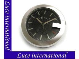 グッチ 210 G-CLOCK Gデザイン 置時計 クロック ブラック×SS GUCCI