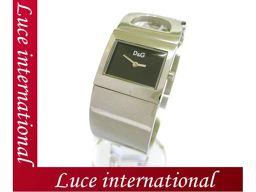 D&G ディーアンドジー バングル ウォッチ 時計 レディース シルバー ロゴデザイン 美品 160703006