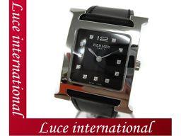 エルメス Hウォッチ PM 腕時計 ブラック バレニア HH1.510 X刻印 HERMES 黒 1611990