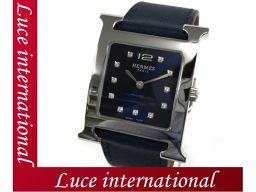 エルメス Hウォッチ 腕時計 ブルーマルタ スムースカーフ  HH1.510 X刻印 HERMES 161199