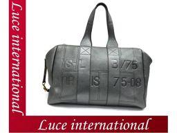 Yves Saint Laurent Boston bag metallic gray leather YSL as good as new 1710360223CS