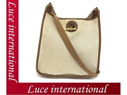Hermes Vespa diagonal shoulder bag Shoulder towel Ash leather Z Engraved beige used Used 1802360074CS