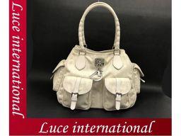Christian Dior Trotter Handbag Tote Off White Used 18080233 CS