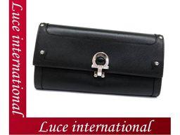 Salvatore Ferragamo Gancini metal fittings wallet Calf leather with black handle as new as 18080612CU