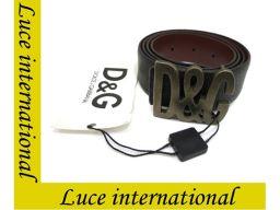 D&G ドルガバ メンズ ロゴバックルベルト ブラック #100 新同 190710613