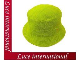 エルメス Hロゴマーク入りパイル地ハット/帽子グリーン#57HERMES