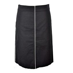 J&R/ジェイ&アール/レディース/スカート/膝丈 タイトスカート 黒×白ライン サイズ:M 【中古】