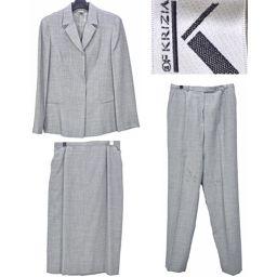 ■クリッツア/KRIZIA/レディース/スーツ3点セット/グレー ジャケット アウター パンツ スカート ボトム