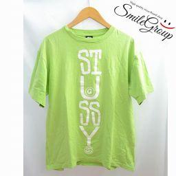 ステューシー Tシャツ STUSSY イエローグリーン メンズ 半袖 ロゴ サイズL 【中古】