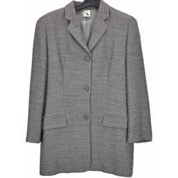 ■KRIZIA/クリッツア/レディース/長袖ジャケット/グレー アウター テーラードジャケット ウール サイズ: