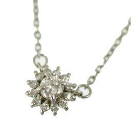 ◆プラチナ850/ペンダント/ダイヤモンド/フラワーデザイン Pt850 ネックレス