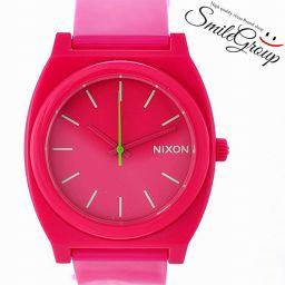 ニクソン レディース腕時計 タイムテラー A119-387 NIXON 文字盤ピンク クオーツ 樹脂 【中古】