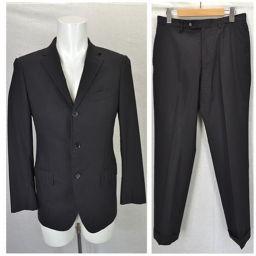 ☆ユナイテッドアローズ/UNITED ARROWS/メンズ/スーツ上下セット/黒 ウール 長袖 パンツ サイズ4