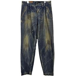 ■ディ&ジー/D&G/メンズ/デニムパンツ/ブルー系 ボトムス ロングパンツ 綿 ダメージ加工 コットン サイズ