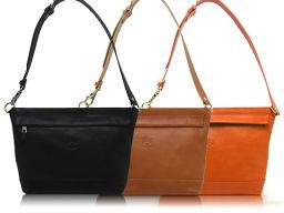 【カラー:166/オレンジ】IL BISONTE イルビゾンテレザー ショルダーバッグ