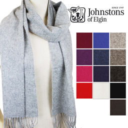 【Color: Mid Gray】 【2015 AW New Works】 Johnstons Johnstones Muffler / Plain Stole
