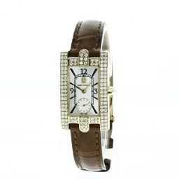 ハリーウィンストン レディ アヴェニュー 310LQG アフターダイヤモンド 腕時計レディース