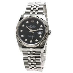 ロレックス 116234G デイトジャスト 10Pダイヤモンド 腕時計 OH済メンズ
