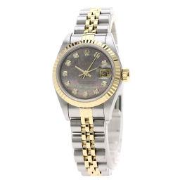 ロレックス 69173G デイトジャスト 10Pダイヤモンド コンビ 腕時計 OH済レディース
