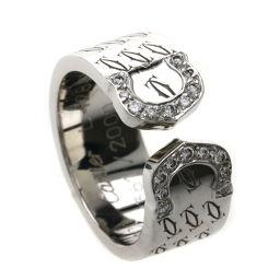 カルティエ C2リング 2000年クリスマス限定 ダイヤモンド リング・指輪レディース