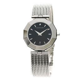 センチュリー タイムジェム プライムタイム 1Pダイヤモンド 腕時計レディース