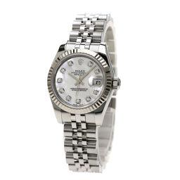 ロレックス 179174NG デイトジャスト 10Pダイヤモンド 腕時計レディース