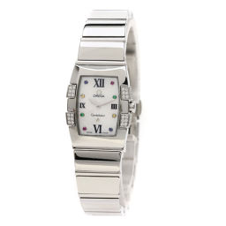 オメガ Ref.1589-79 コンステレーション ミニ クアドレラ/アイリス/ダイヤモンド 腕時計レディース