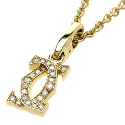 カルティエ 2C ダイヤモンド ネックレスレディース