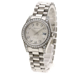 ロレックス 179159G デイトジャスト 10Pダイヤモンド ベゼル ラグ ダイヤモンド 腕時計レディース