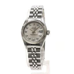 ロレックス 79174G デイトジャスト 10Pダイヤモンド 腕時計 OH済レディース