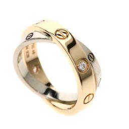 カルティエ ビーラブリング 6Pダイヤモンド リング・指輪レディース