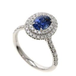 ティファニー ソレスト 非加熱 サファイア/ダイヤモンド リング・指輪レディース