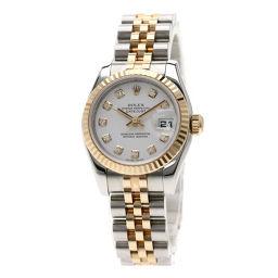 ロレックス 179171G デイトジャスト 10Pダイヤモンド コンビ 腕時計レディース