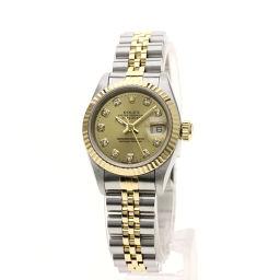 ロレックス 69173G デイトジャスト10Pダイヤモンド 腕時計 OH済レディース