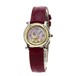 ショパール 27/8246-21 ハッピースポーツ/スター/ムーン/ダイヤモンド 腕時計レディース