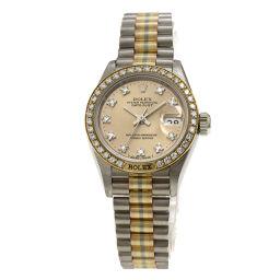 ロレックス 69149G BIC デイトジャスト トリドール 10Pダイヤモンド 腕時計 OH済レディース