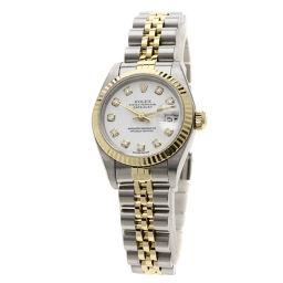 ロレックス 79173G デイトジャスト 10Pダイヤモンド コンビ 腕時計 OH済レディース