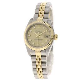 ロレックス 69173G ロレックス 10Pダイヤモンド 腕時計 OH済レディース